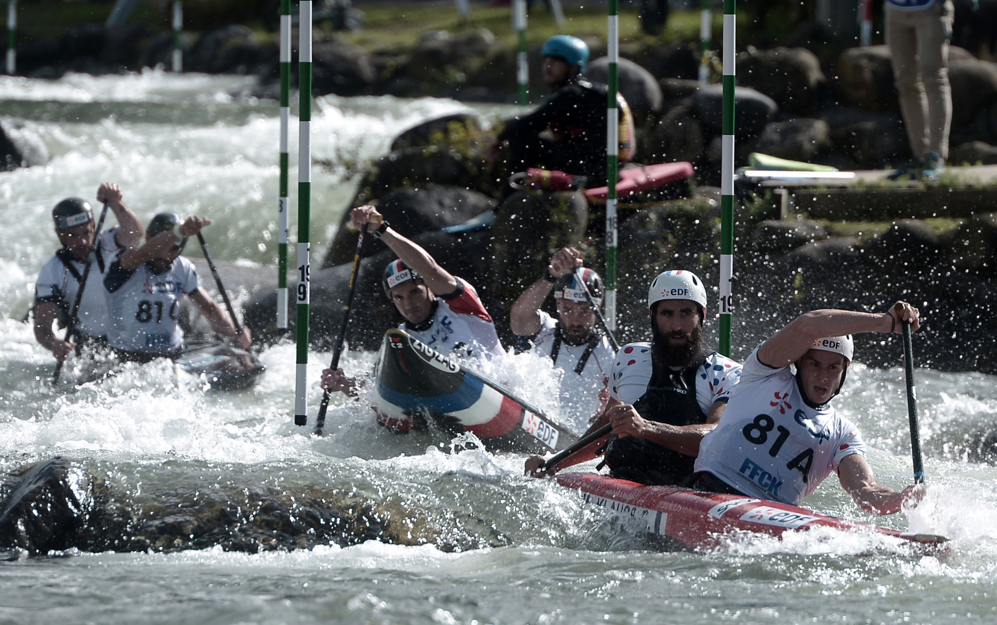 This year's Wildwater World Championships are being run in conjunction with the Canoe Slalom World Championships in Pau ©Getty Images
