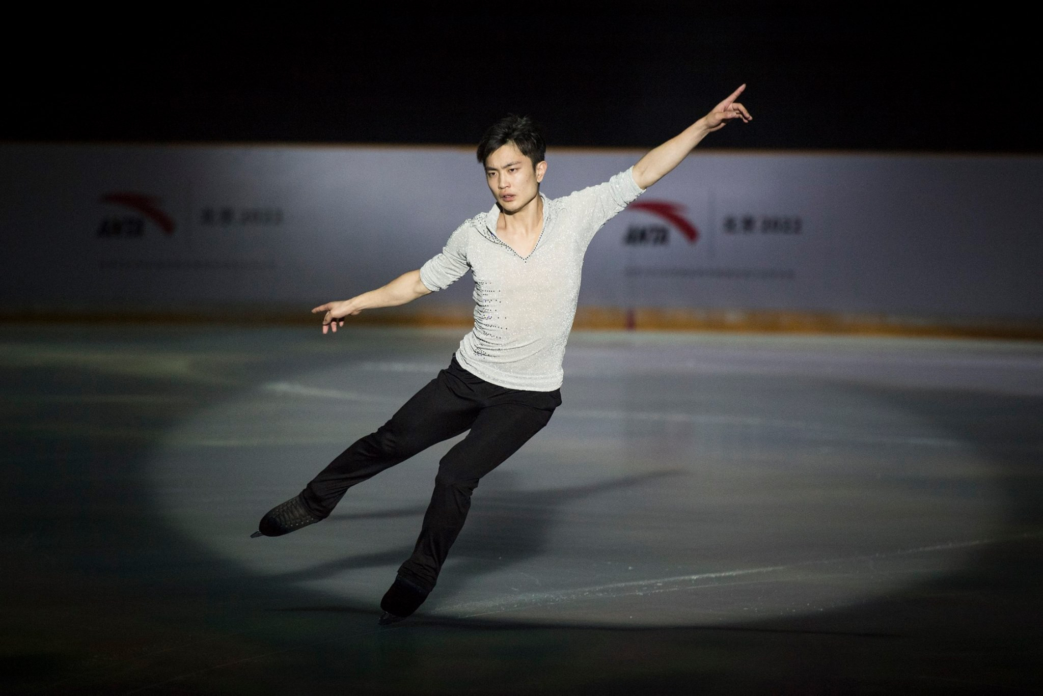 A special skating show was staged to celebrate ANTA's new sponsorship deal with Beijing 2022 ©Beijing 2022