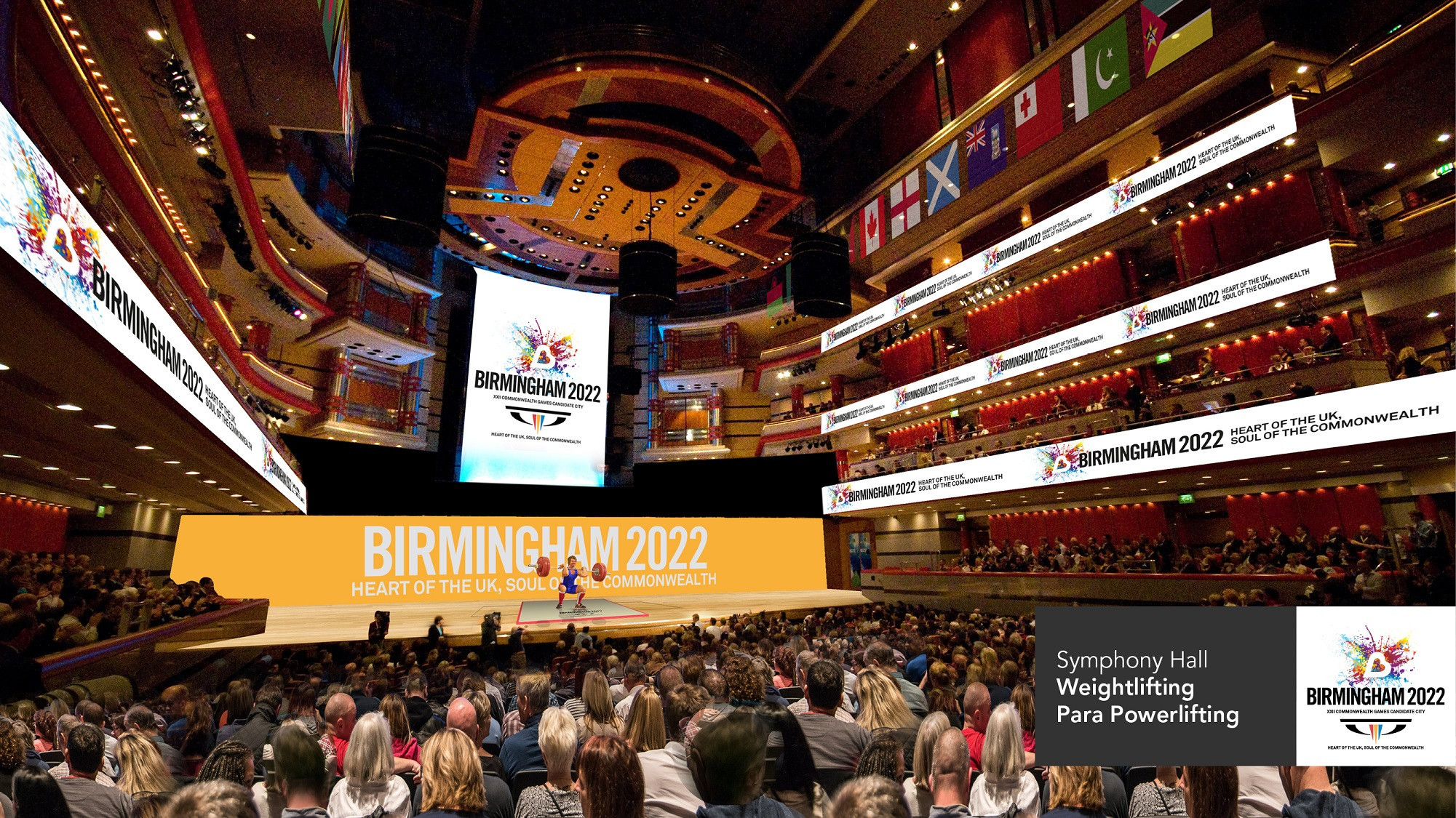 Symphony Hall would be among the venues if Birmingham is awarded the 2022 Commonwealth Games ©Birmingham 2022
