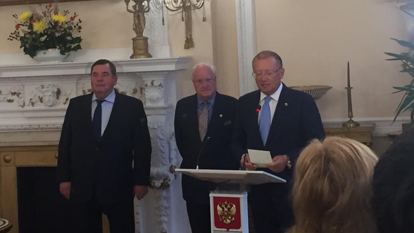 FIAS President Vasily Shestakov, left, spoke in London this evening ©ITG