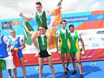 Double gold for Ireland - and Cork - at World Rowing Championships