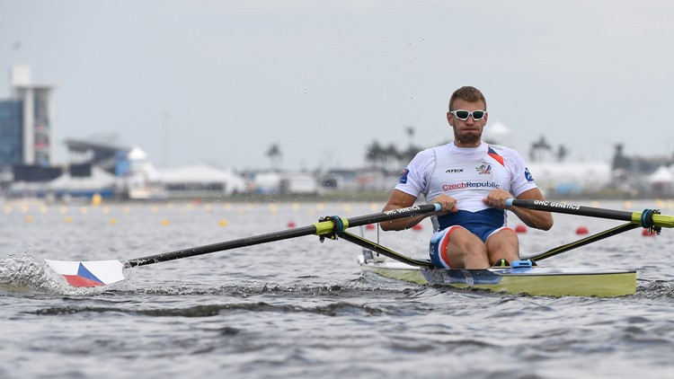 The Czech Republic's four-times world champion Ondřej Synek was in ominous form as he won his single sculls semi-final on the Sarasota-Bradenton course ©World Rowing
