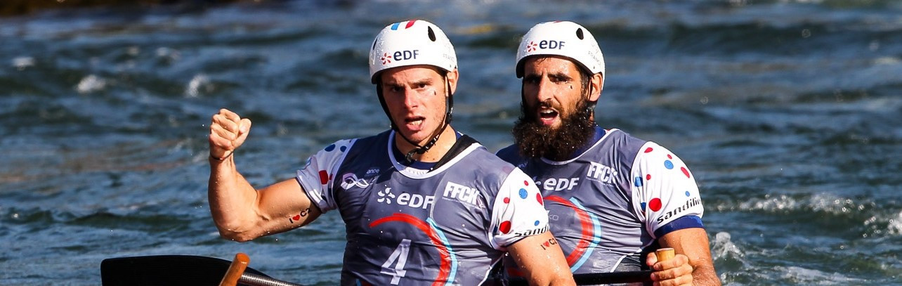 High emotion as France's C2 men win world title on home water at Pau