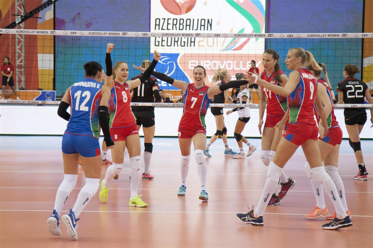 Hosts Azerbaijan into semi-finals of Women's European Volleyball Championships