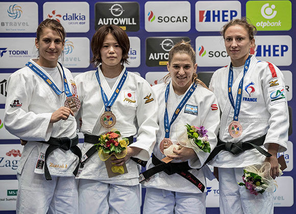 World and Olympic champion Pareto returns after year out to win bronze at Zagreb IJF Grand Prix