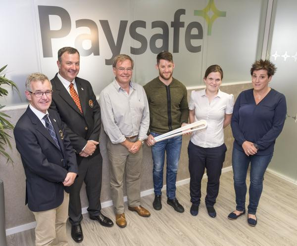 Paysafe and Isle of Man Commonwealth Games Association representatives at the announcement of the sponsorship deal which will help preparations for Gold Coast 2018 ©IOMCGA