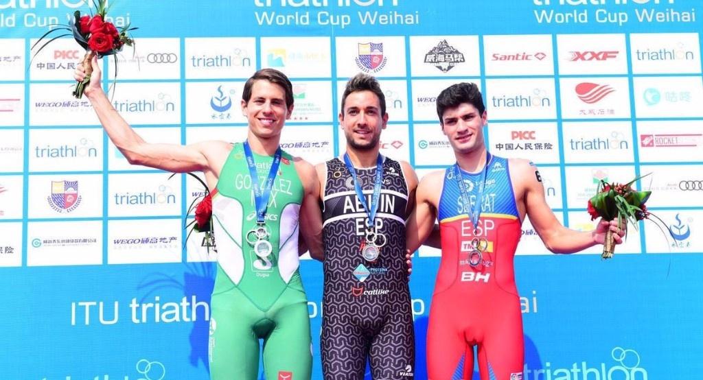 Spanish and Swiss triathletes secure victories at ITU World Cup in Weihai