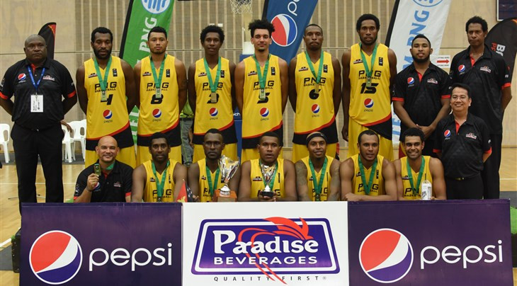 Papua New Guinea's men and women had every reason to celebrate winning their first FIBA Melanesia Cup  ©FIBA