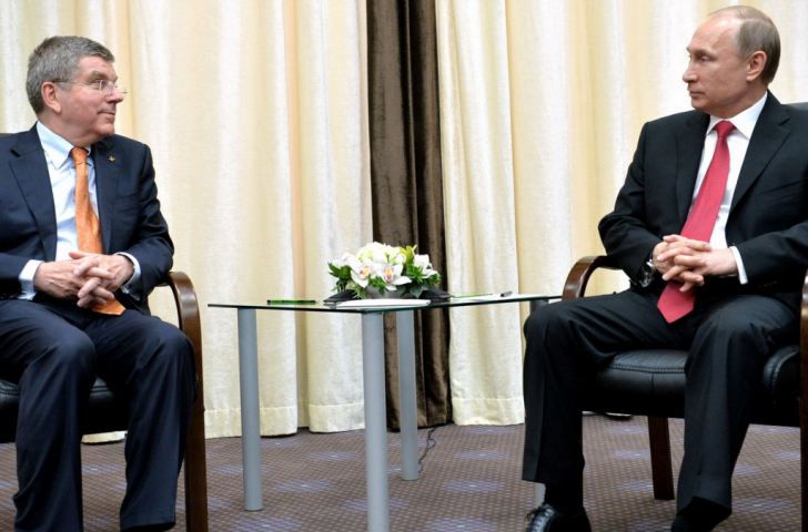 Thomas Bach met with Russian President Vladimir Putin and praised the country's investment in the facilities built for Sochi 2014