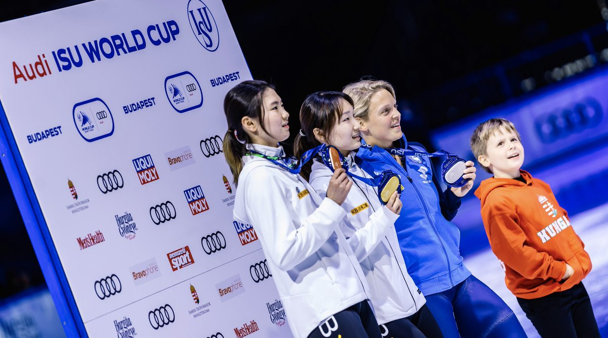 South Korea's golden girl Choi Min Jeong wins twice at World Cup Short Track in Budapest