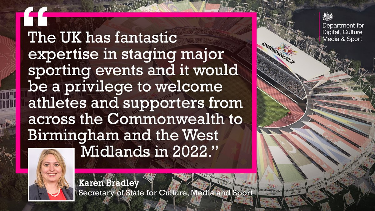 A promise of financial support from the UK Government has left Birmingham almost certain to be awarded the 2022 Commonwealth Games after they were the city to submit a bid by the deadline ©DCMS