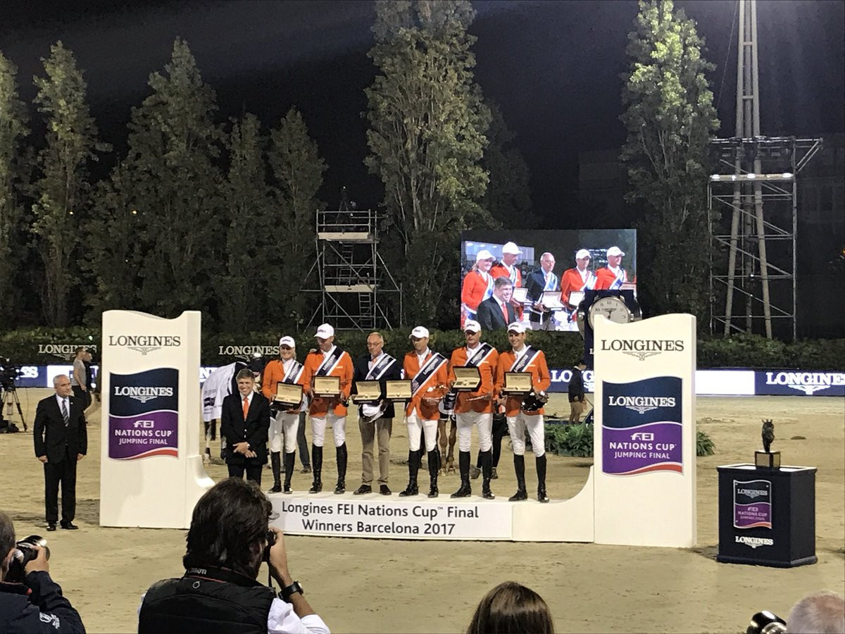 Netherlands claim FEI Nations Cup Jumping crown in Barcelona