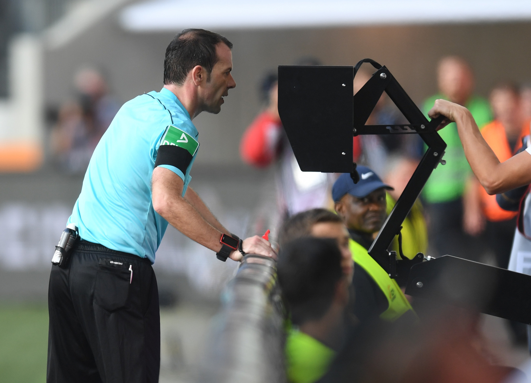 The use of VAR has sparked controversy during its trial so far ©Getty Images