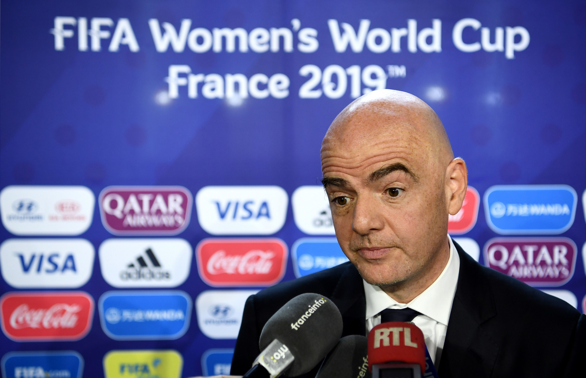 FIFA President Gianni Infantino has been accused of rushing the implementation of VAR ©Getty Images
