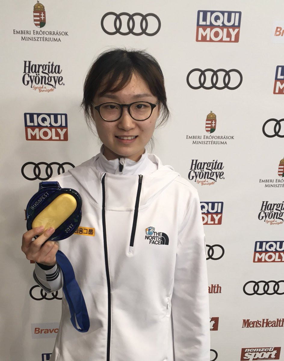 Choi Min-jeong of South Korea completed a clean sweep of the women's individual events as she claimed victory in the 1,000 metres race ©Twitter