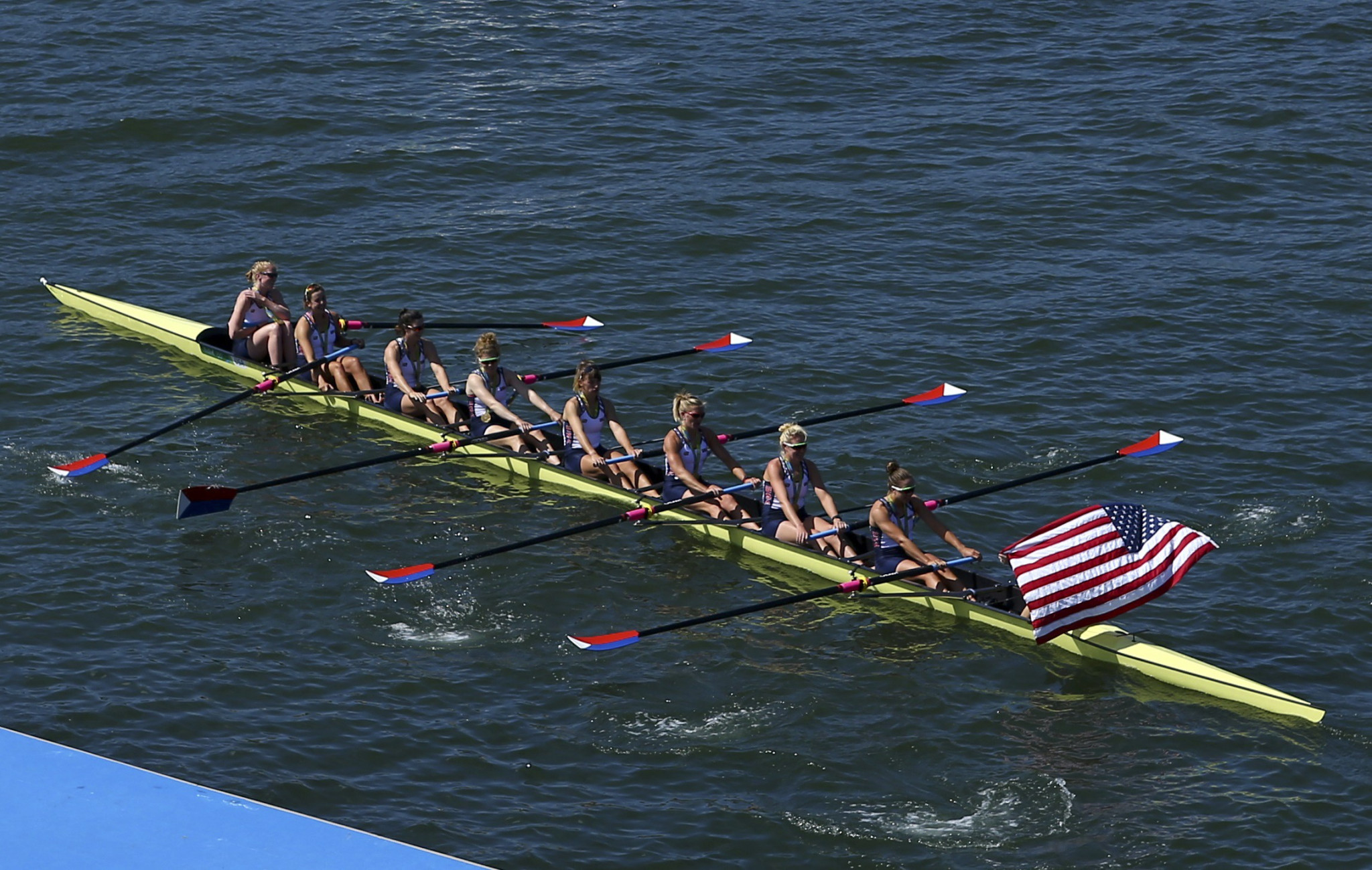 Romania claim women's eight crown as United States winning streak comes to an end at World Rowing Championships