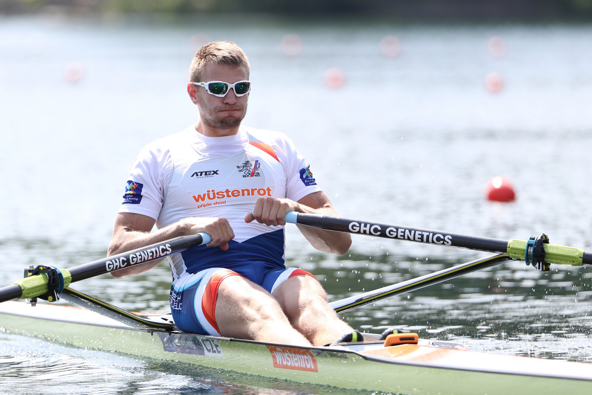 Ondřej Synek of the Czech Republic, a three-time Olympic medallist, claimed his fifth world title as he stormed to victory in the men's single sculls ©Getty Images