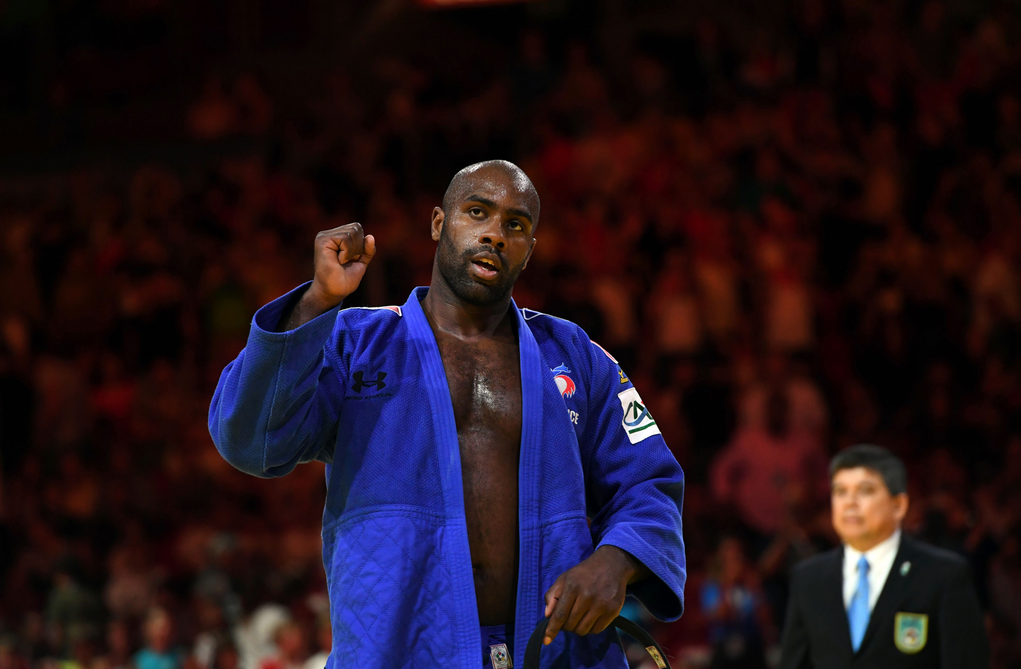World champion Teddy Riner maintained his winning streak in Zagreb ©Getty Images