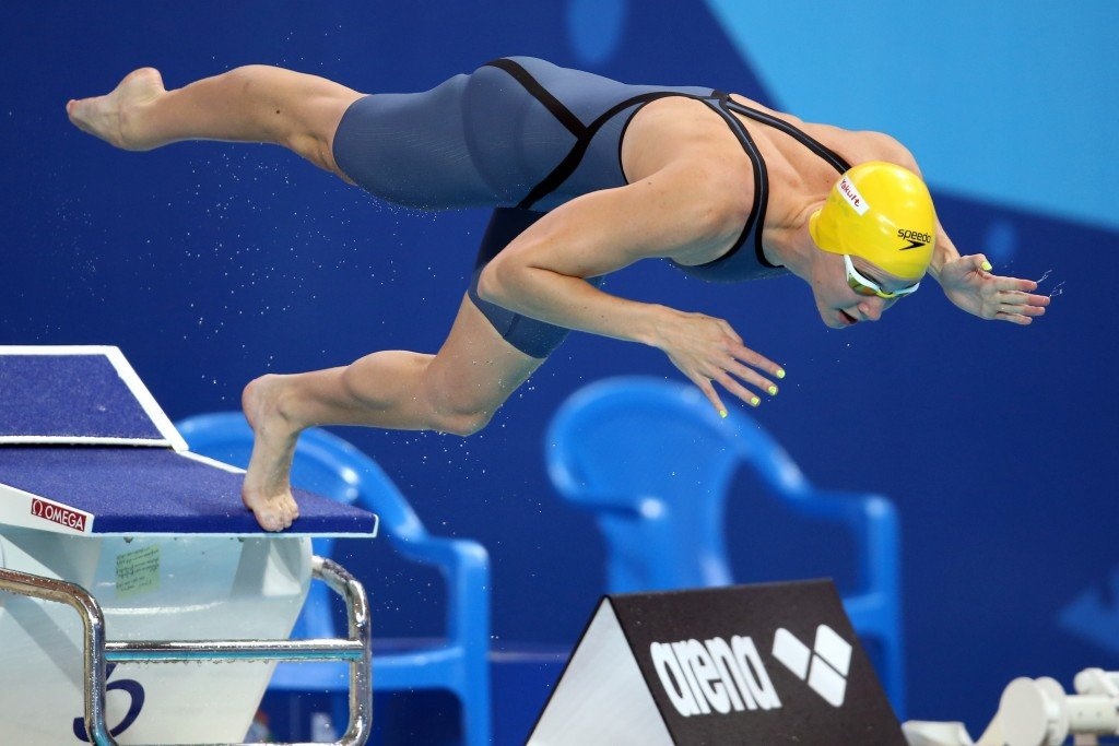 Australia's Bronte Campbell secured the women's 50m freestyle title