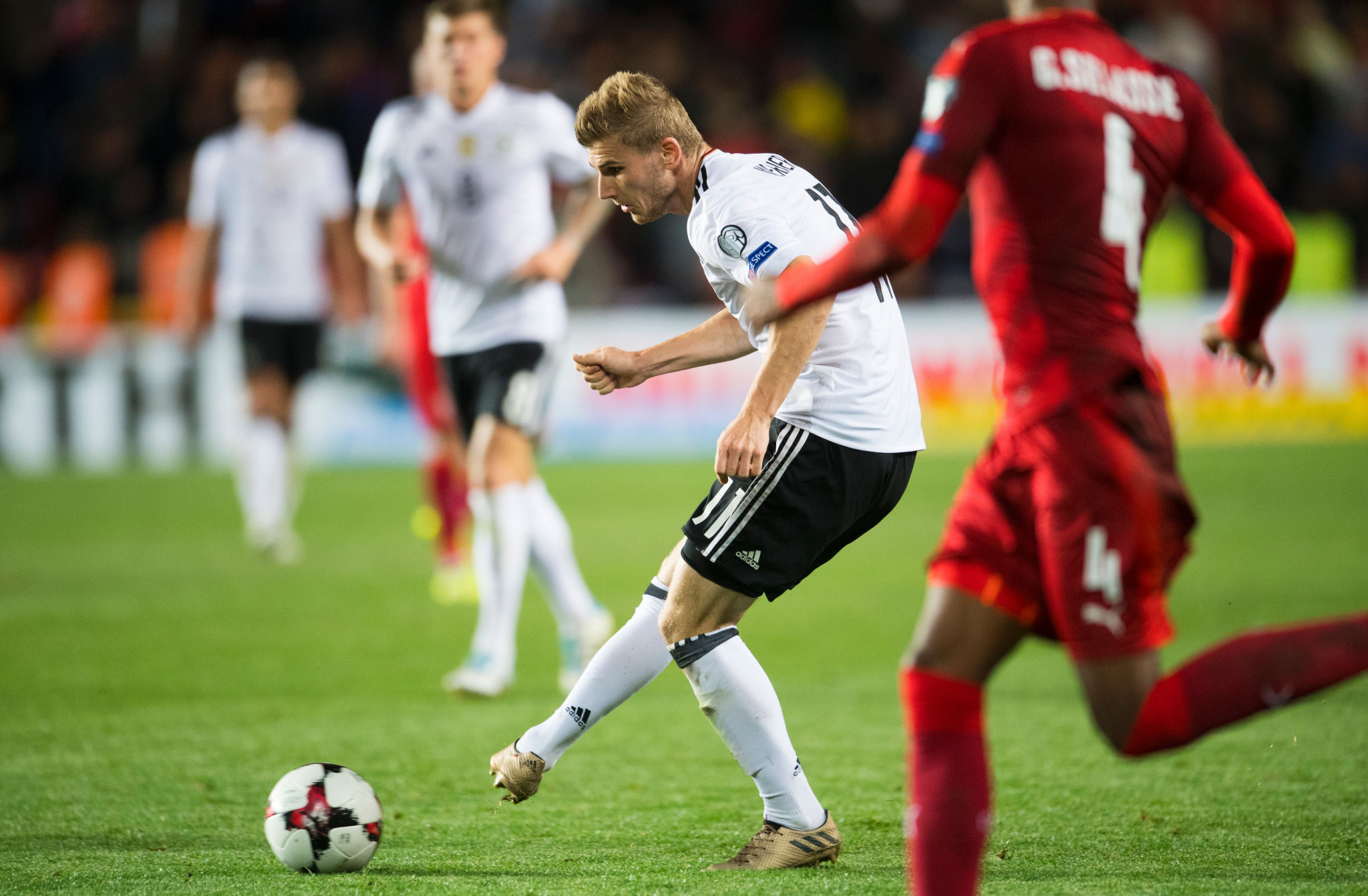 Timo Werner, who scored one of the Germany goals, was abused by his own supporters during the match with the Czech Republic ©Getty Images