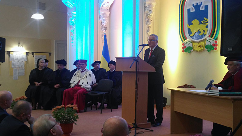 FISU vice-president awarded honorary doctorate by Ukrainian university