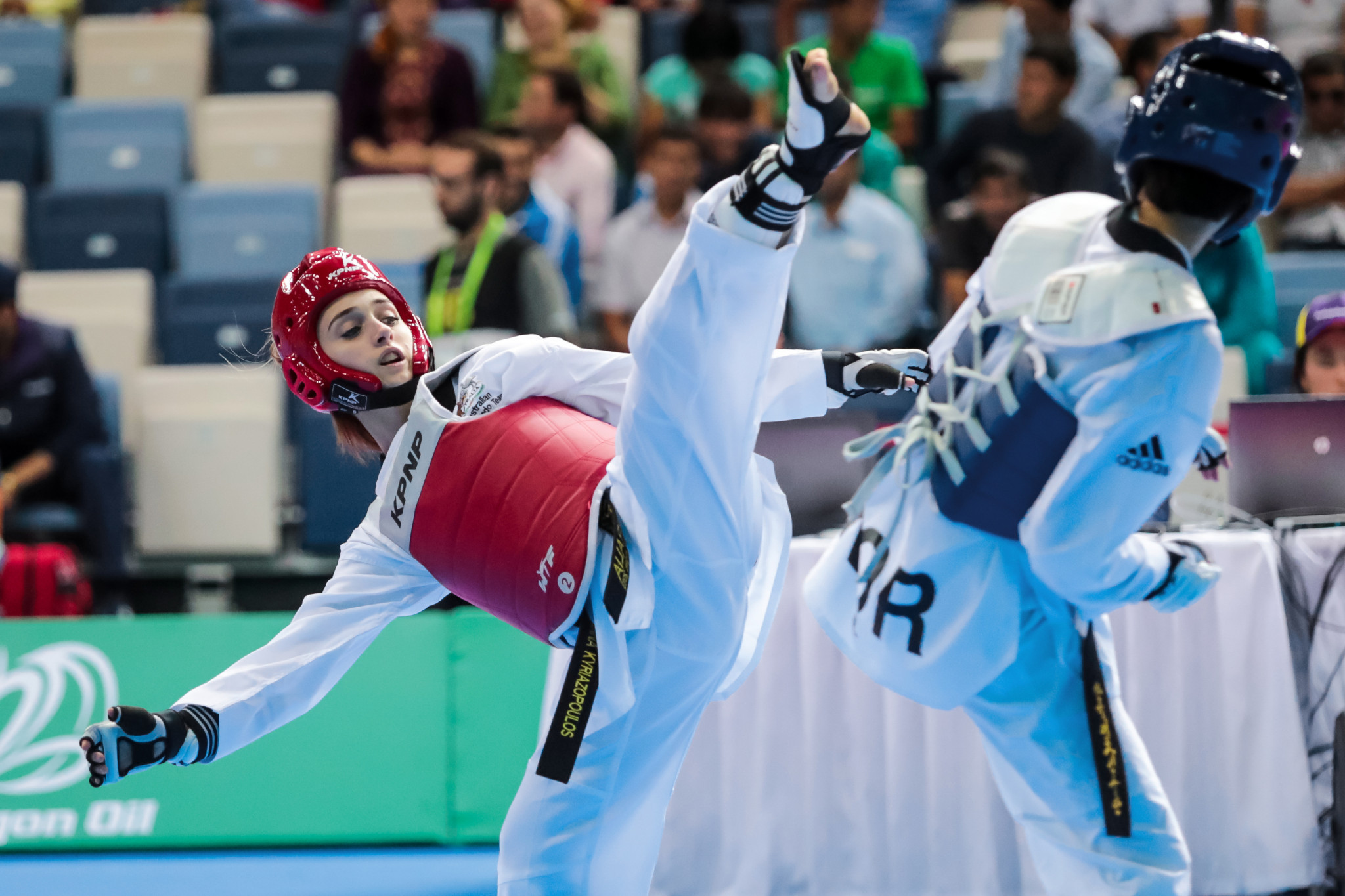 Deanna Kyriazopoulos was one of six taekwondo players to represnet Australia at the Asian Indoor and Martial Arts Games in Ashgabat last month ©Ashgabat 2017