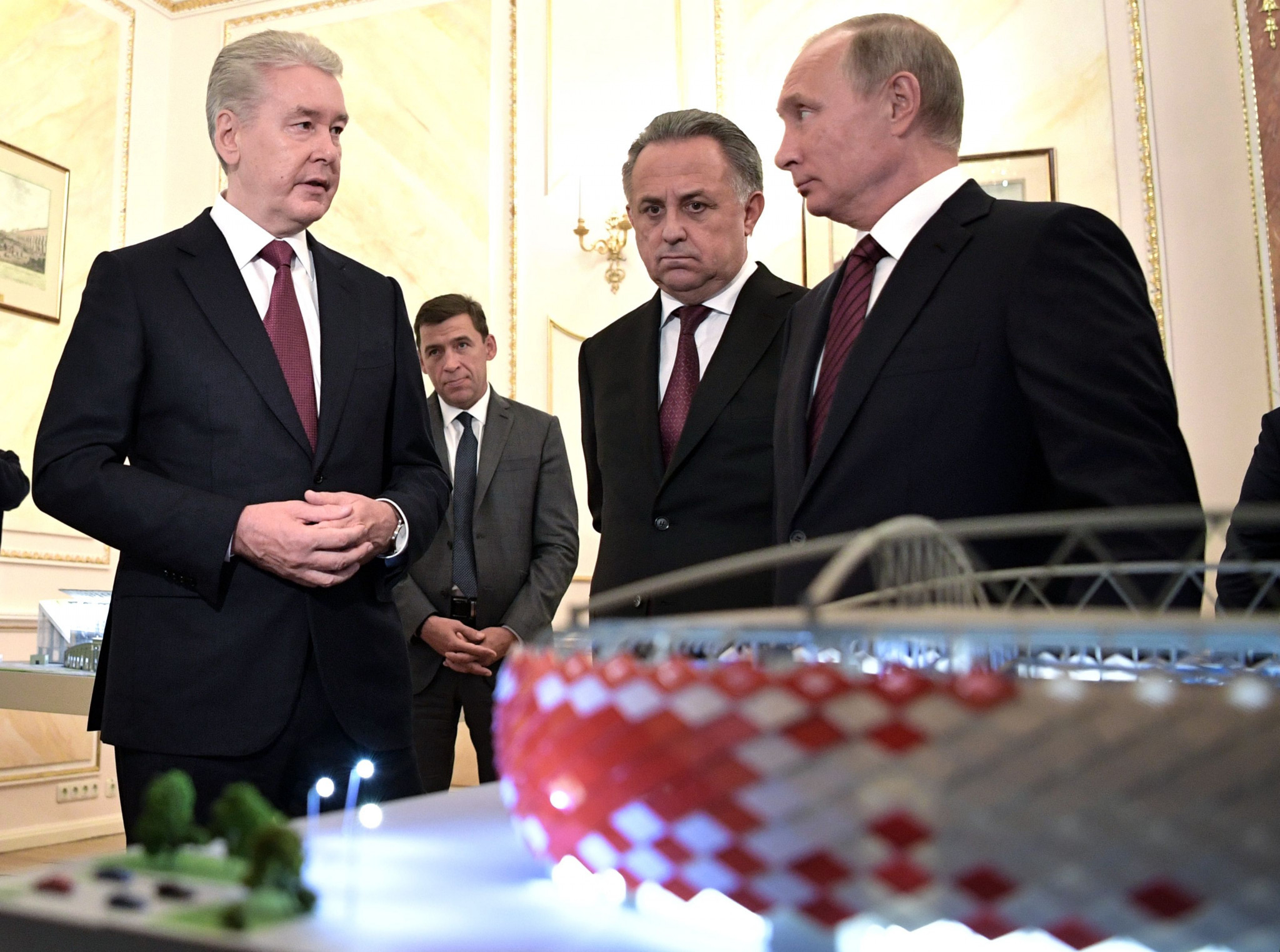 Russian President Vladimir Putin has said that some construction work on the venues for the 2018 FIFA World Cup in the country remains behind schedule ©Getty Images