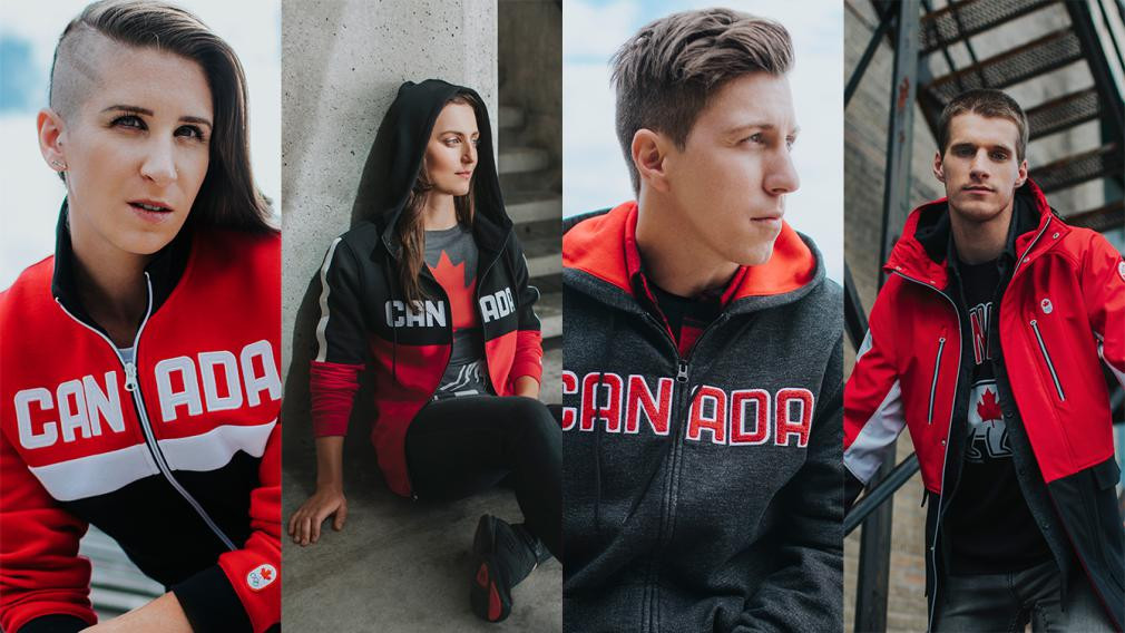 Hudson's Bay has provided each team member with a full uniform kit ©Canadian Olympic Committee