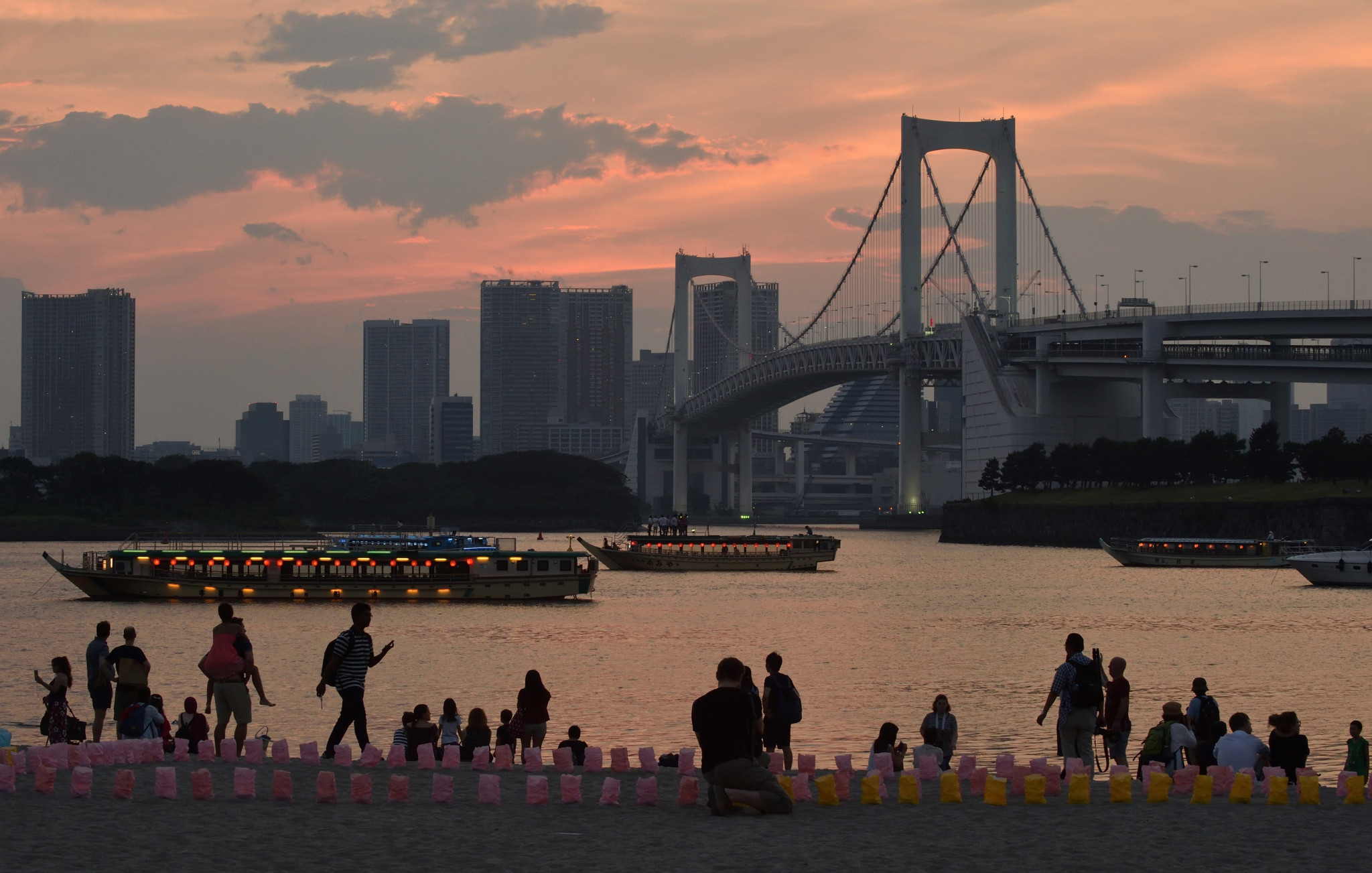 Water pollution concerns in the Odaiba area have grown after a Tokyo 2020 survey revealed the quality was not good enough to meet IF standards ©Getty Images
