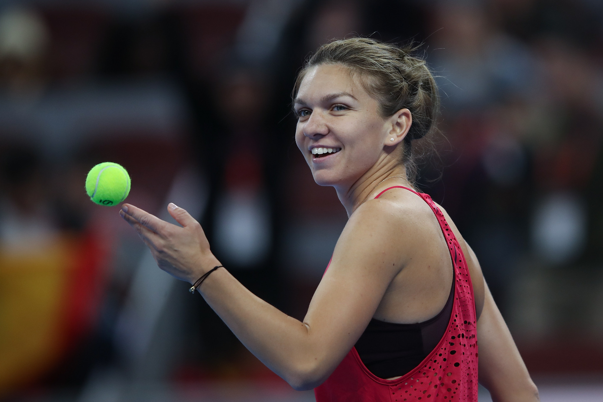 Halep claims first career win over Sharapova at China Open