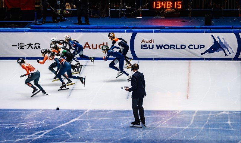 The International Skating Union World Cup Short Track Speed Skating series is due to resume in Dutch city Dordrecht tomorrow ©ISU