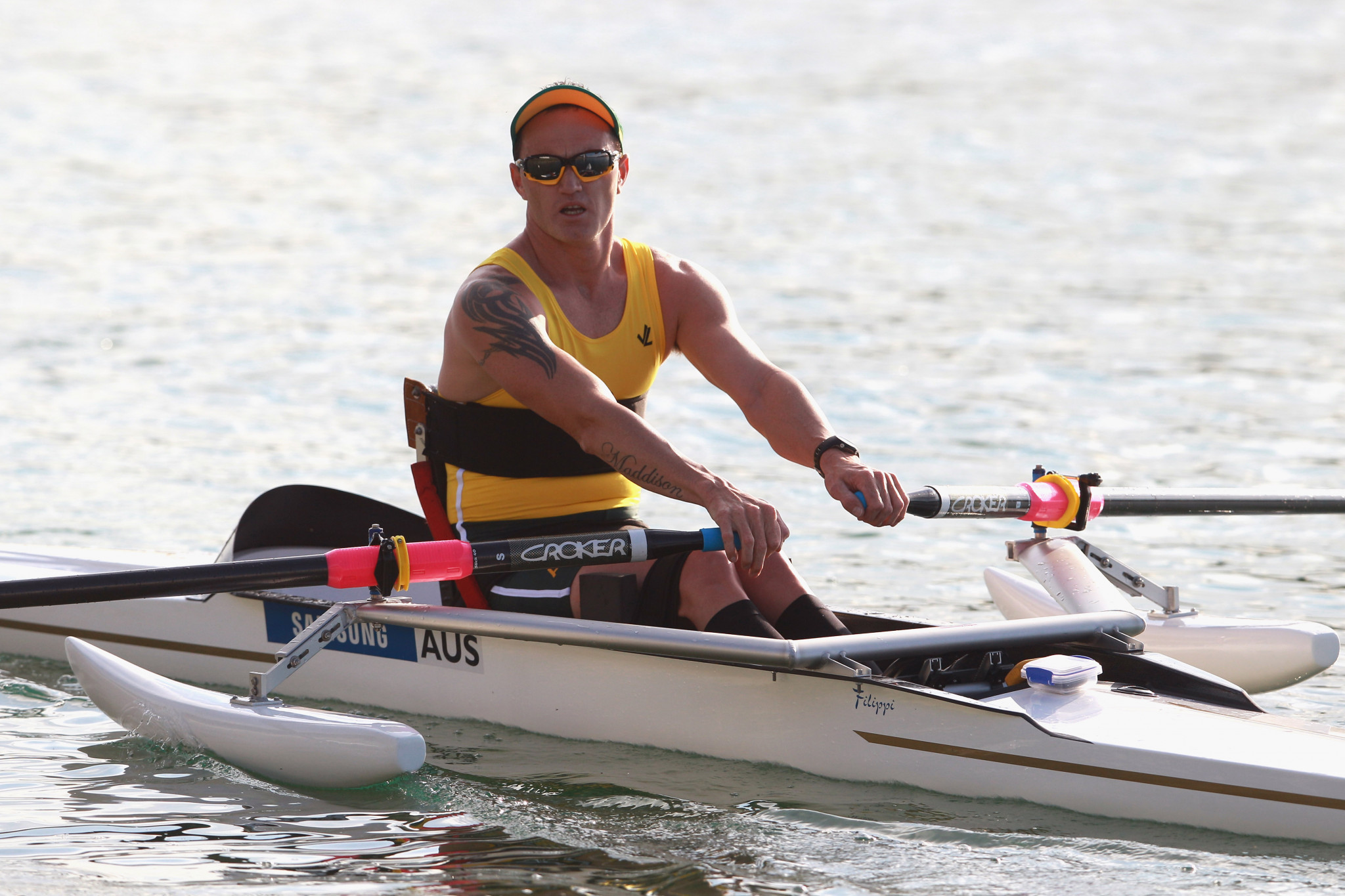 Australian rower Erik Horrie is one of five nominees for the IPC's Allianz Athlete of the Month prize for September ©Getty Images