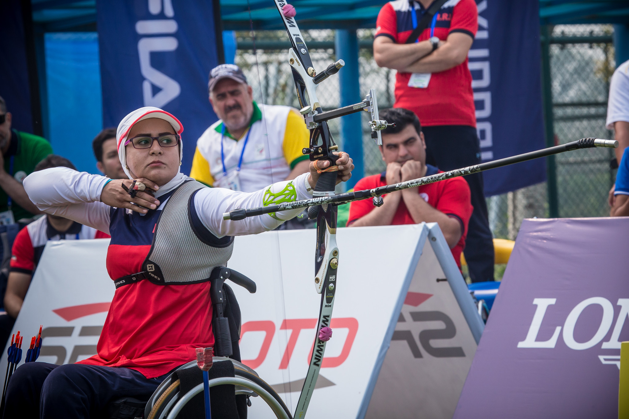 Iranian archer Zahra Nemati is in contention for the September award ©Getty Images