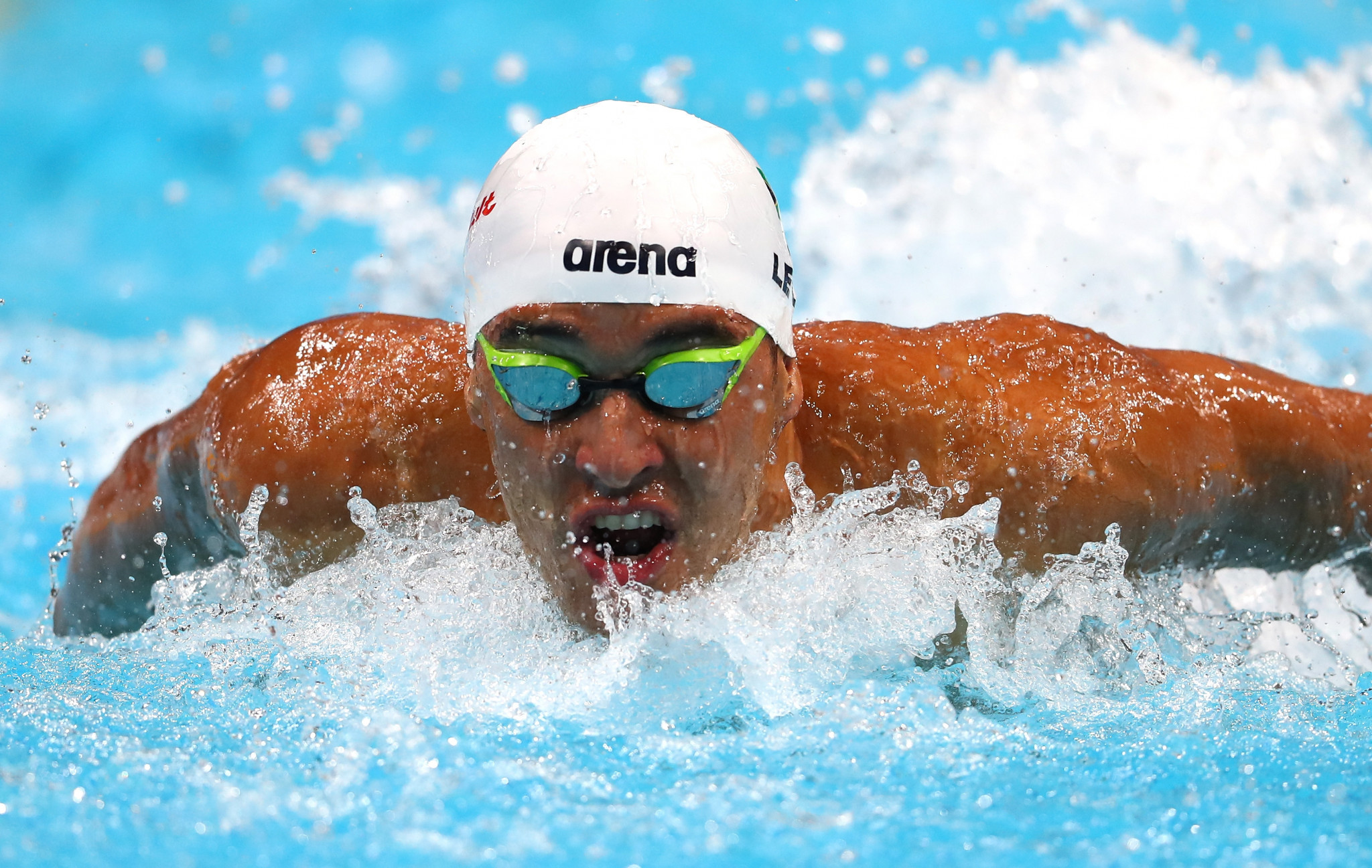 south Africa's current overall men's leader Chad Le Clos, a four-time Olympic medallist, matched the performance from Sweden's Sarah Sjöström with two wins ©Getty Images
