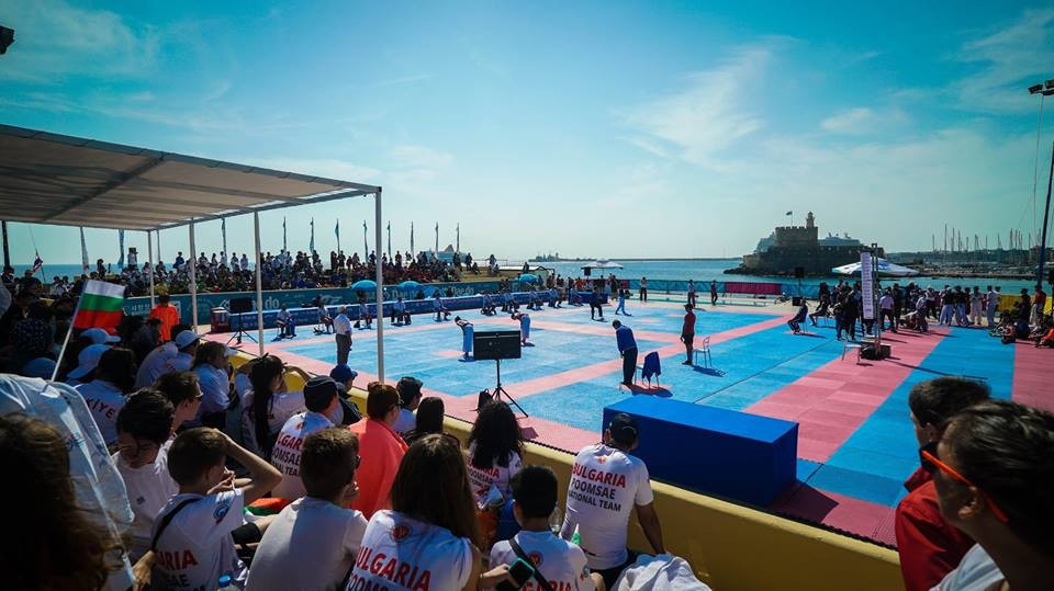 The inaugural World Beach Taekwondo Championships took place on the Greek island of Rhodes in May this year ©World Taekwondo