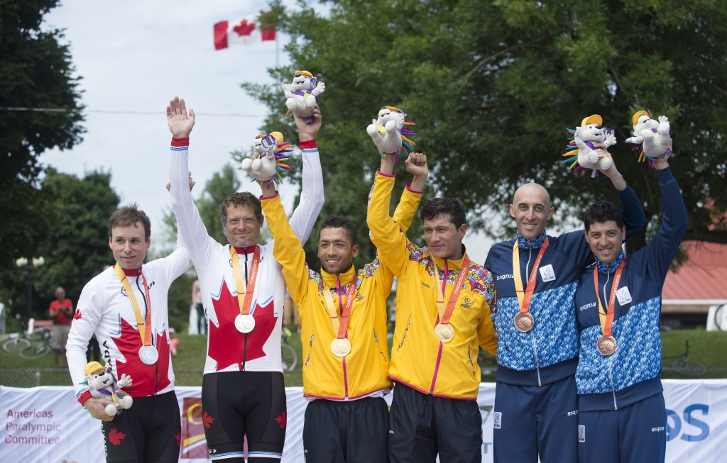 Colombia earned two golds in the cycling road races