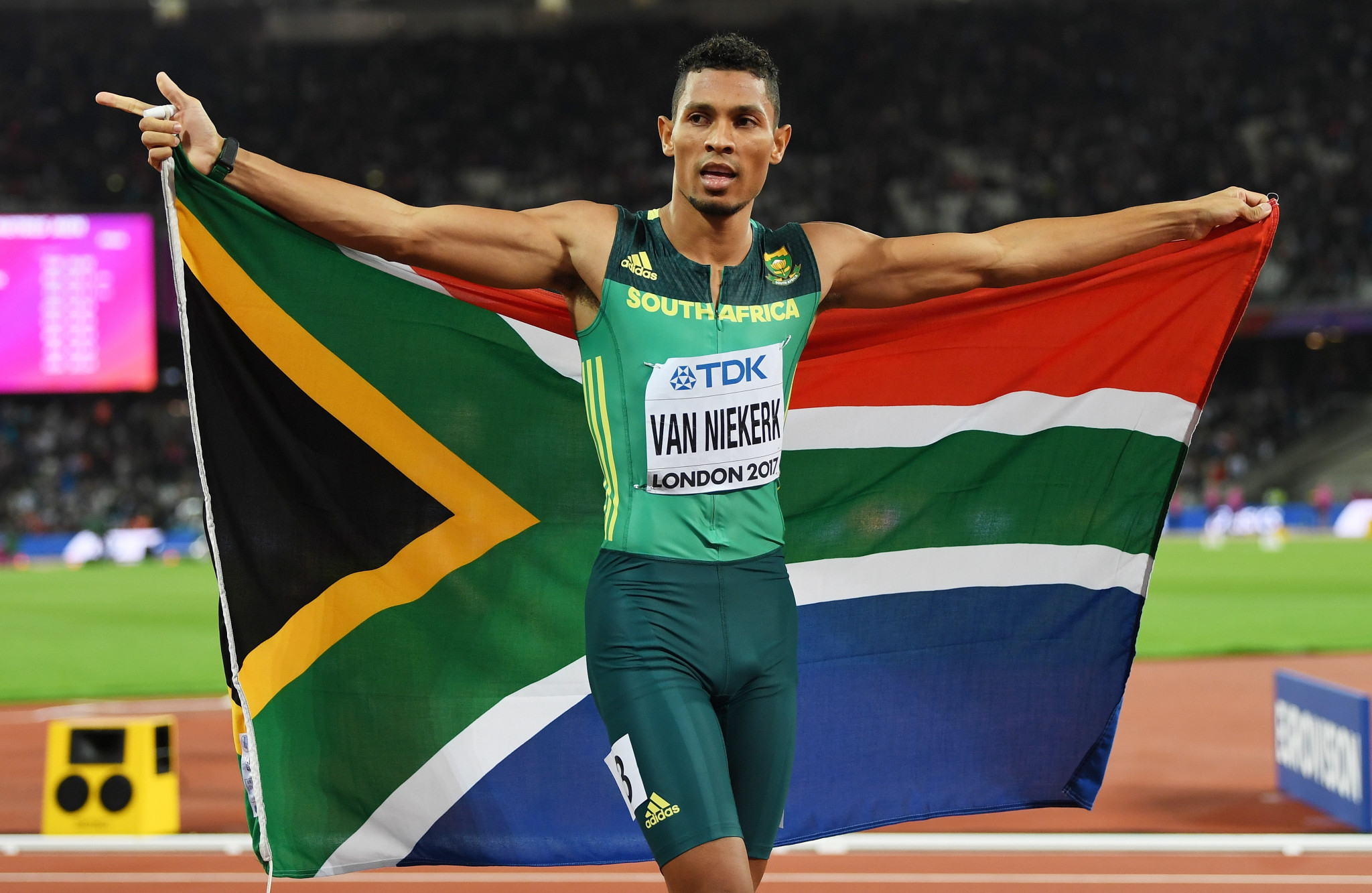 South Africa's Wayde van Niekerk wants to run in the 100m and 200m at Gold Coast 2018 ©Getty Images