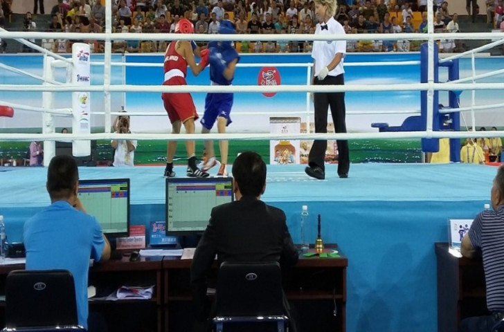 Olympic silver medallist Ren Cancan is through to the semi-finals of the ASBC Asian Confederation Women's Continental Championships ©AIBA