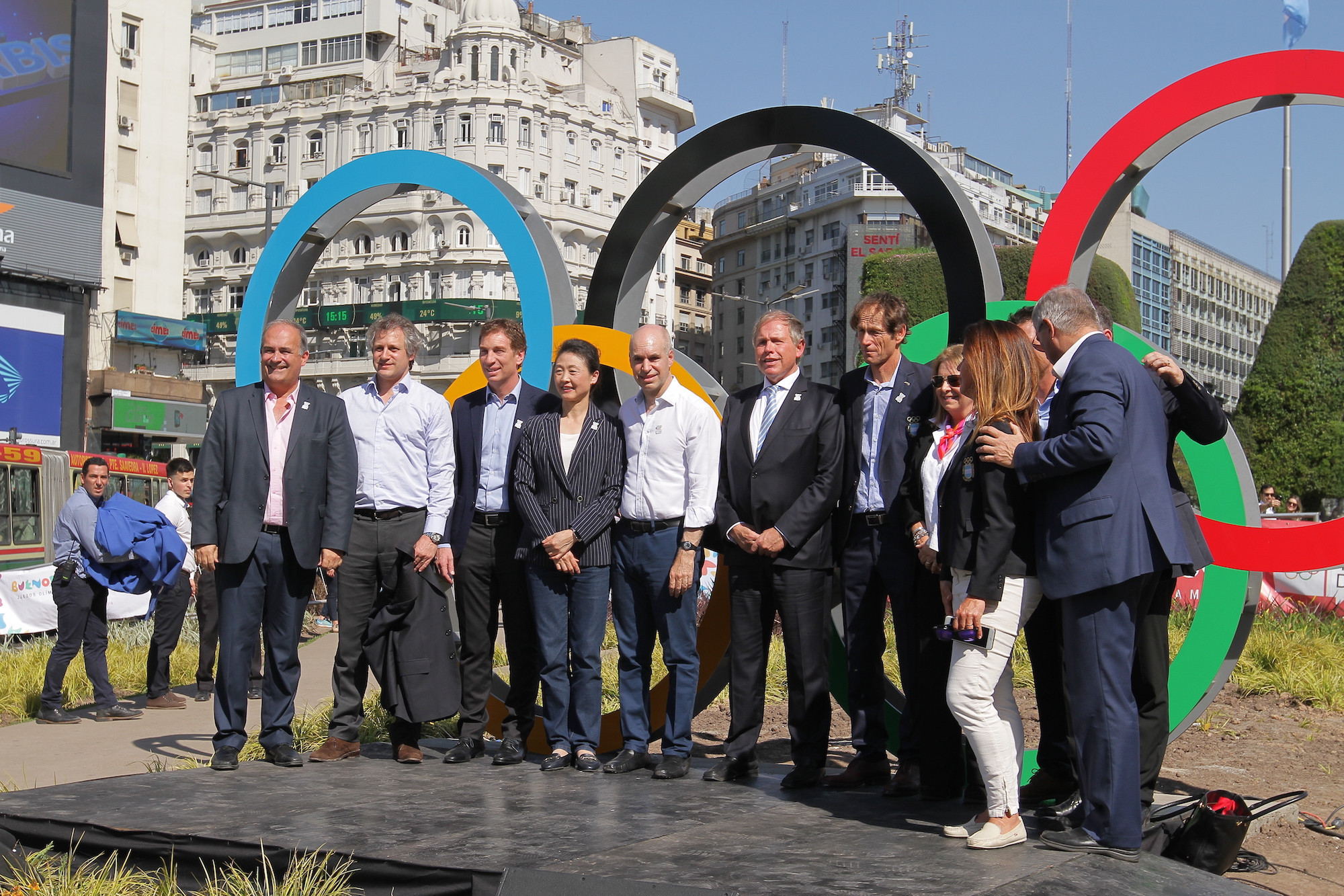 Buenos Aires Mayor joins athletes to mark one-year-to-go celebrations until Summer Youth Olympic Games