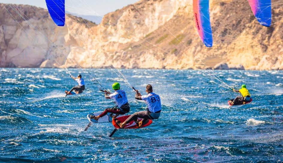 Parlier takes triple win on windy day at KiteFoil GoldCup
