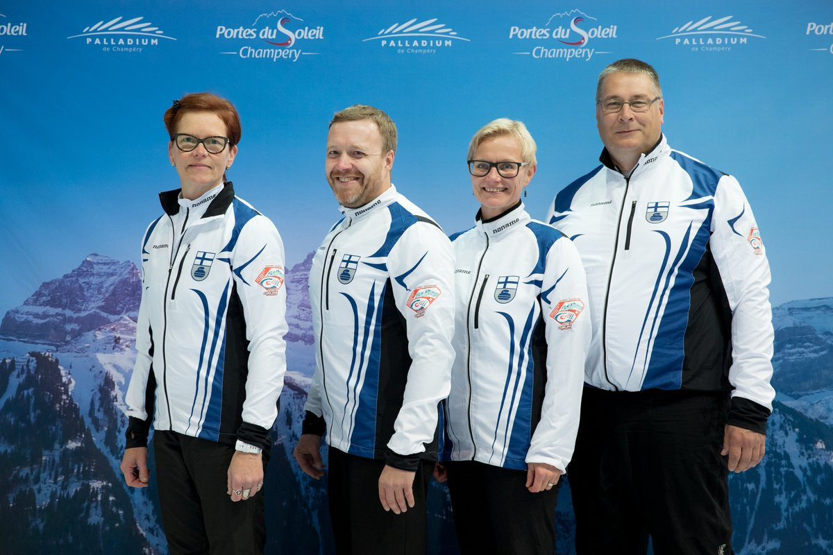 Finland secure first win at World Mixed Curling Championships