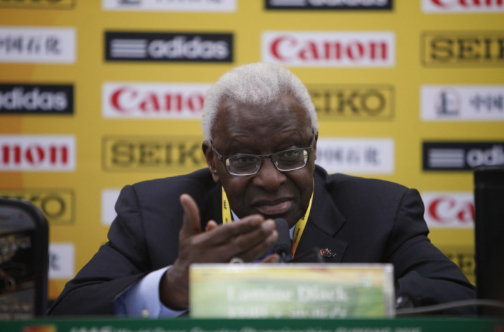 Lamine Diack, pictured at the World Cross Country Championships,  has defended the IAAF decision to award the 2021 World Championships to Eugene ©Getty Images