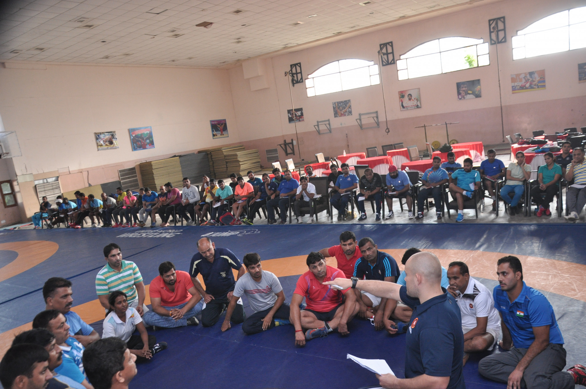 United World Wrestling deliver coaching course in India