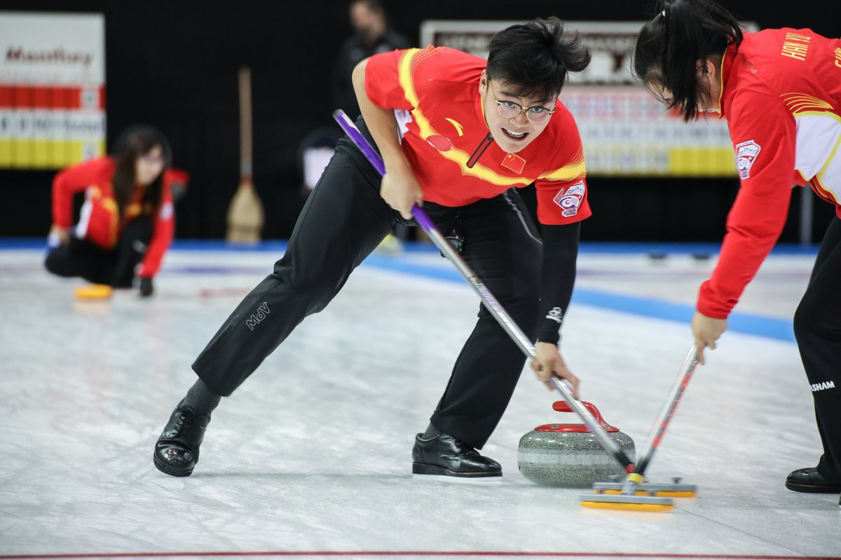 China were among the winners today at the World Mixed Curling Championships ©WCF