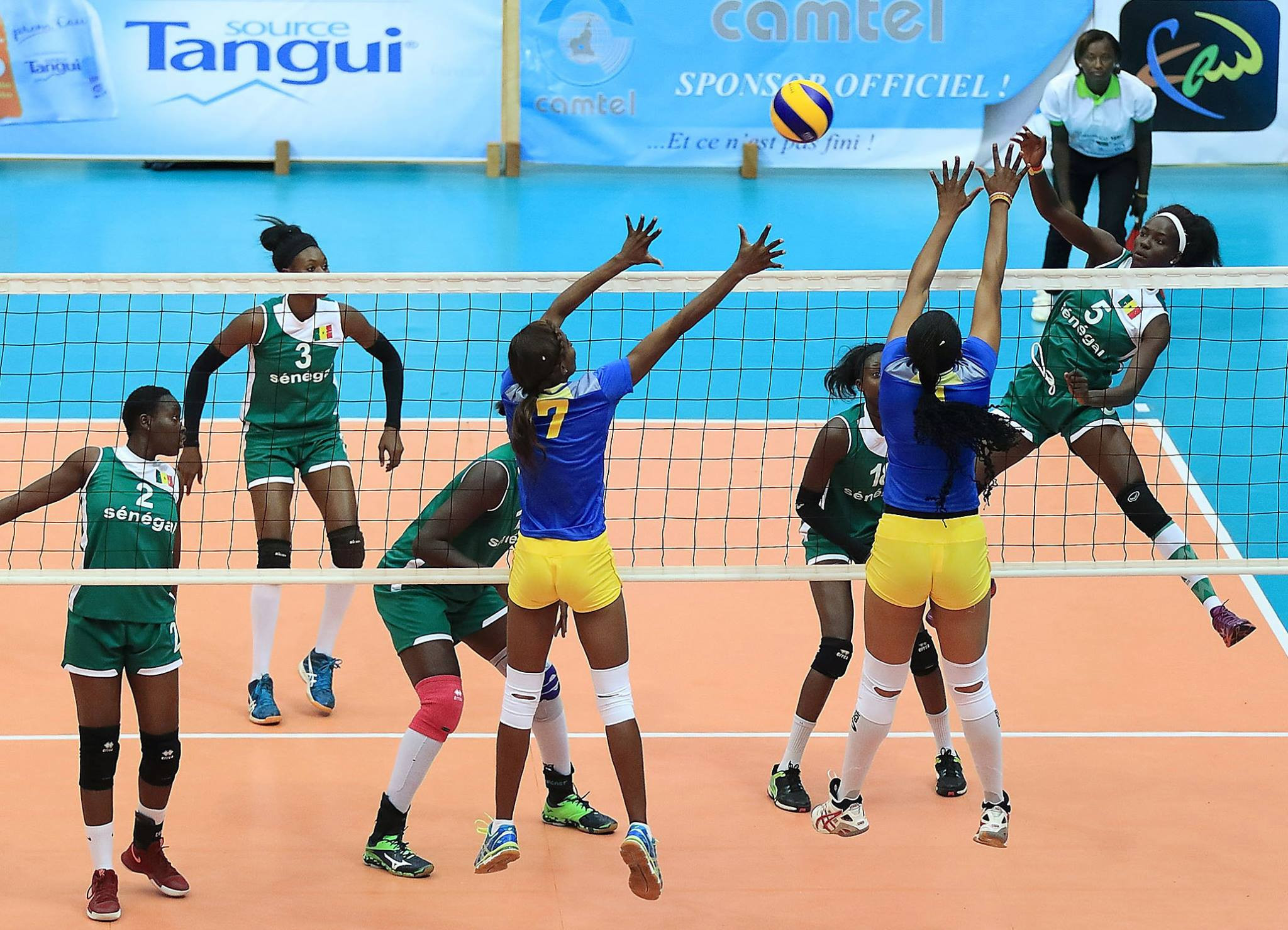 Senegal defeated the Democratic of Republic of Congo in four sets ©CAVB