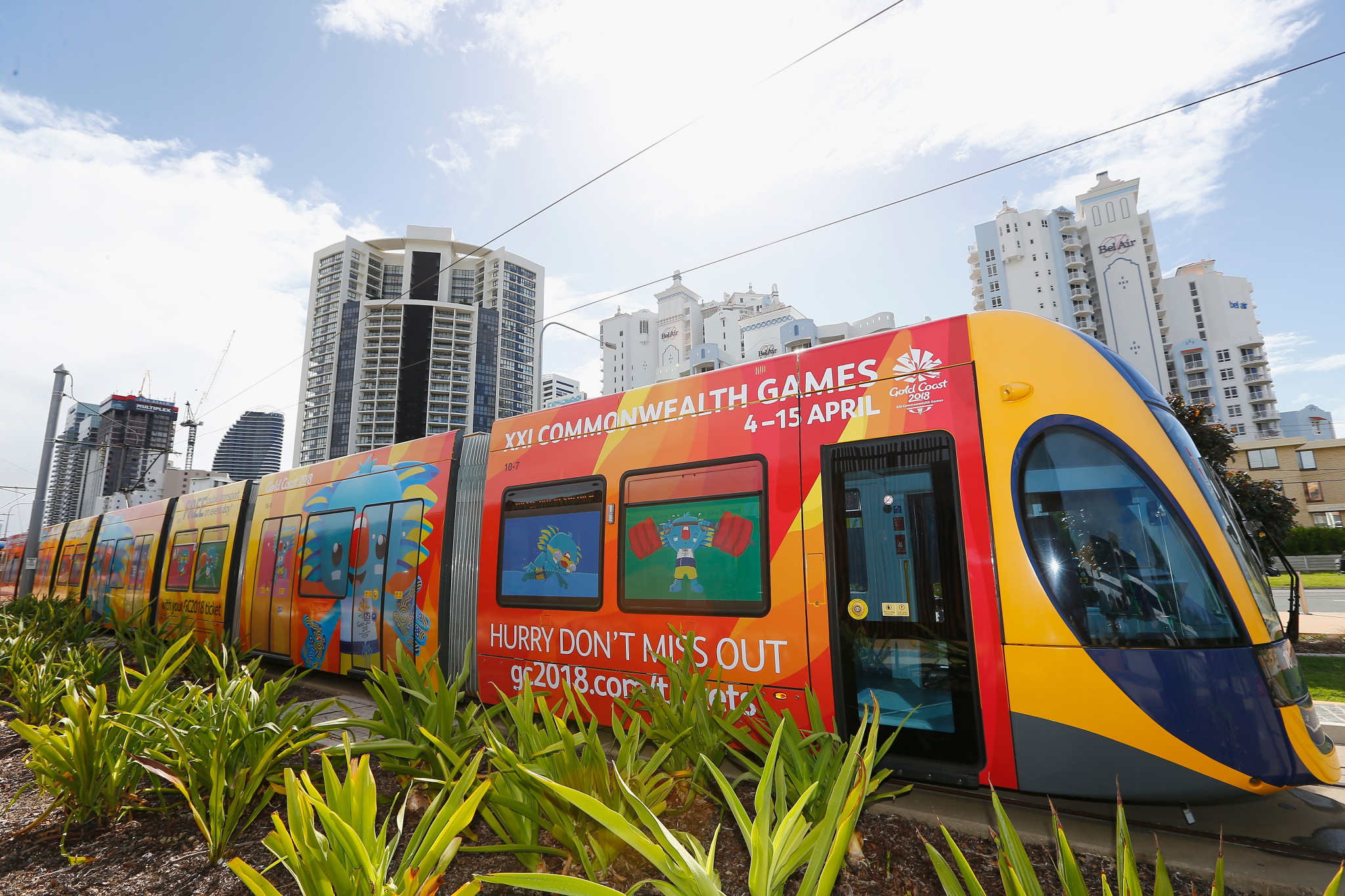 Gold Coast 2018 are steering the public towards public transport at the Games to avoid traffic ©Getty Images
