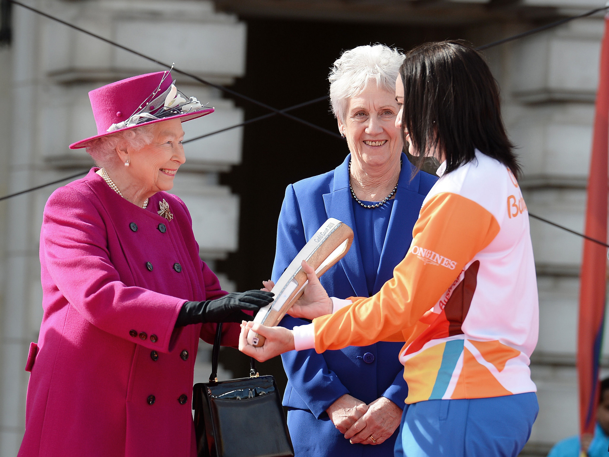 The arrival of the Queen's Baton in Australia on Christmas Eve will mark 100 days to go to the Games ©Getty Images