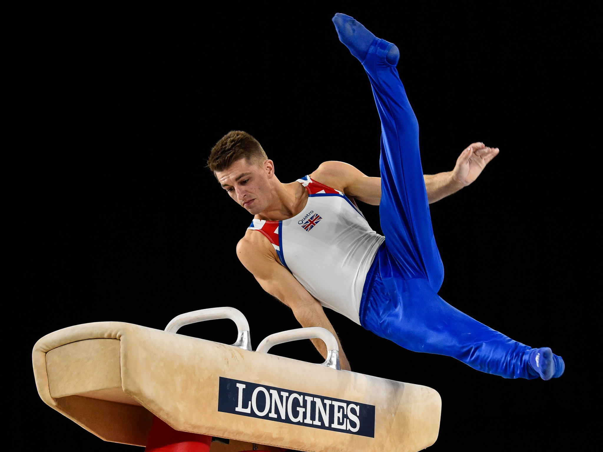Britain's Max Whitlock reigned supreme on the pommel horse ©Getty Images