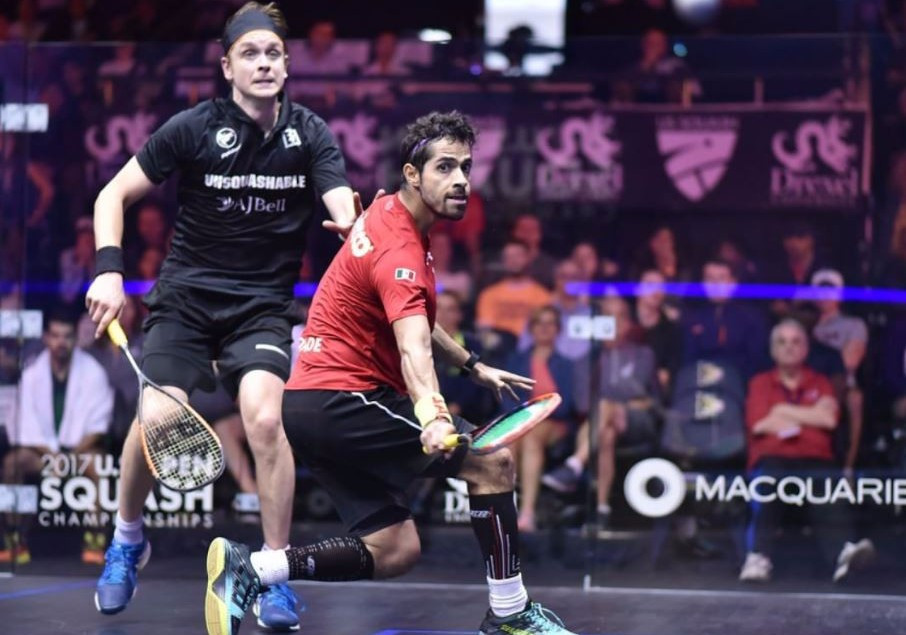 Salazar stuns Willstrop to reach PSA US Open second round