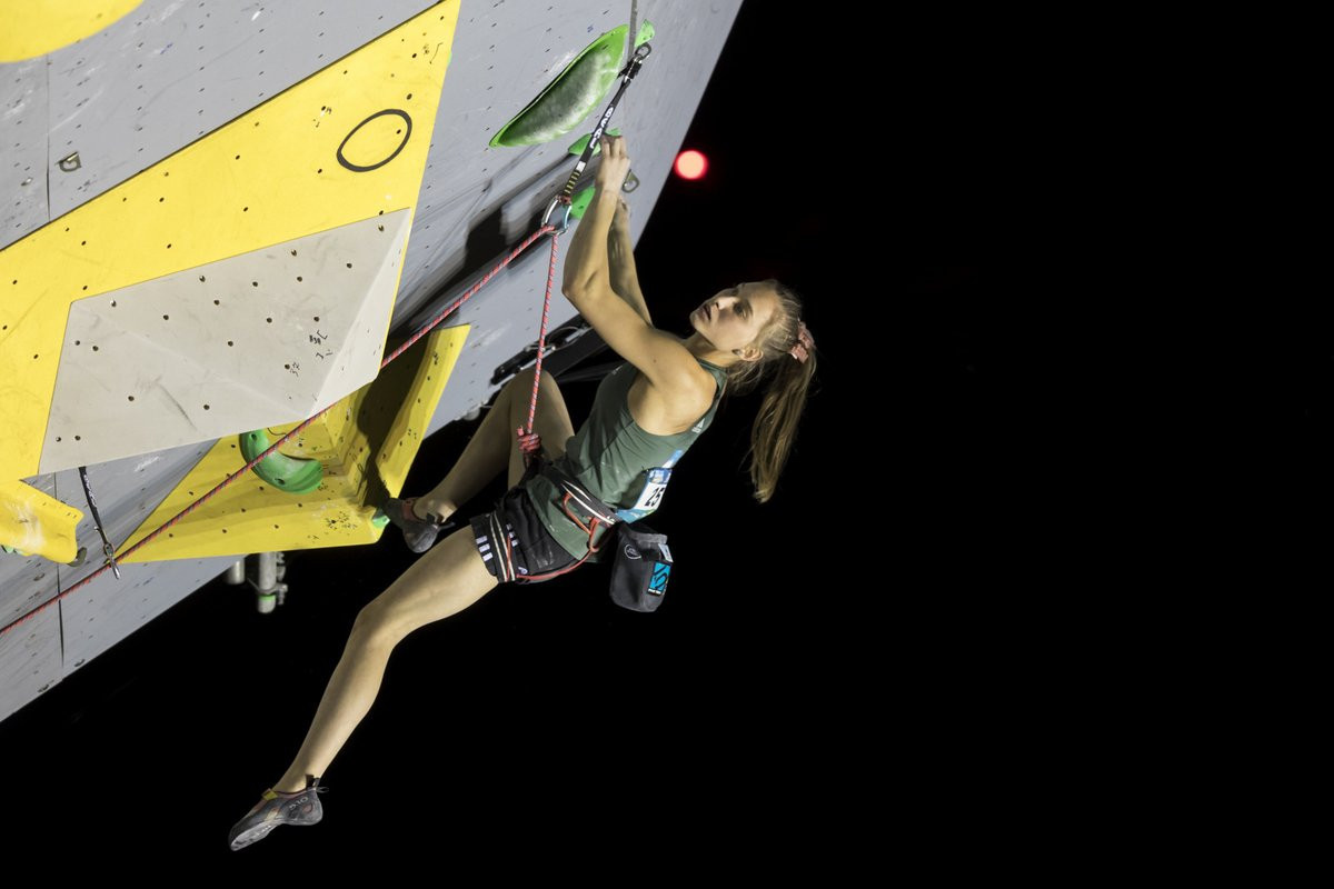 Teenage sensation Garnbret wins again at IFSC World Cup